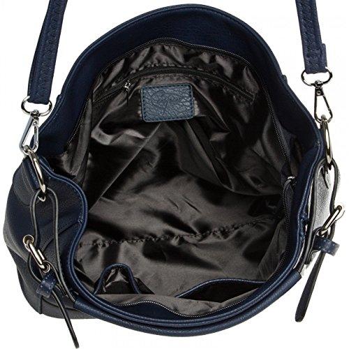 CASPAR Fashion , Borsa Messenger  Donna Blu (blu scuro)