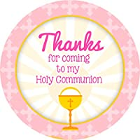 First Holy Communion Sticker Labels Personalised Seals Ideal for Party Bags, Sweet Cones, Favours, Jars, Presentations Gift Boxes, Bottles, Crafts