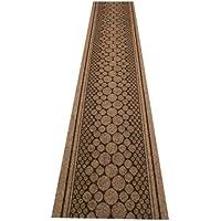 47 Sizes Available - Cork Brown - Sisal Style Carpet Runner Rug Door Mat - (Laminato Ceramic Tiles)