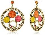 Tribal Zone Drop Earrings for Women (Gol...