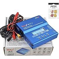 HOBBYTIGER SKYRC iMAX B6AC 3S RC LiPo NiMH NiCd Akku batería V2 Balanza cargador digital +4 Plug (2 T Plug+2 XT60 Plug)