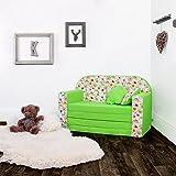 LULANDO Classic Kindersofa Kindercouch Kindersessel Sofa Bettfunktion Kindermöbel zum Schlafen und Spielen, Farbe: Bienen