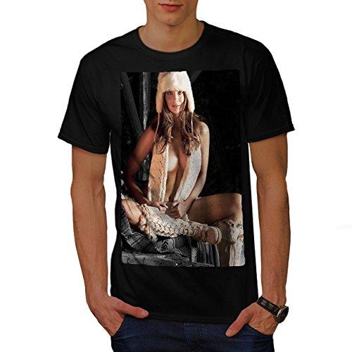 Küken Mädchen T-shirt (wellcoda Nackt Frau Heiß Mädchen Sexy Männer T-Shirt, Dame Grafikdesign gedruckt Tee)