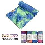 Yogabum Collection Explorateur Antidérapante Serviettes de Tapis de Yoga (Aurora, 62cm x 183cm)