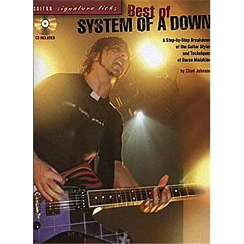 Best Of System Of A Down: Guitar Signature Licks. Partitions, CD pour Tablature Guitare(Symboles d'Accords)