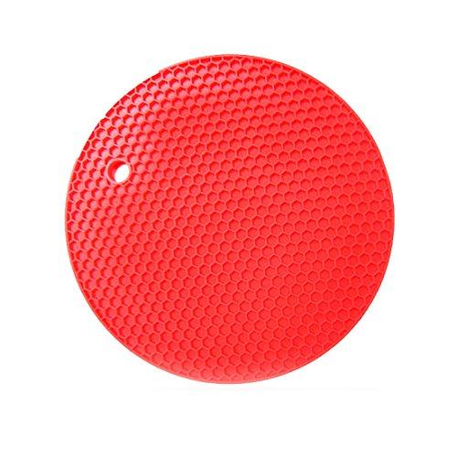 Dauerhafte Silikon (joyliveCY 15,7 * 15,7 cm Hung Dauerhaft Silikon Runde Anti Rutsch Hitzebeständige Matte Geschirr Coaster Kissen 4 Farben Silikon Platzdeckchen)