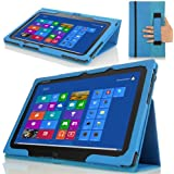 MoKo Lenovo IdeaTab Slim Cover Funda para Lenovo IdeaTab Lynx K3 / K3011 11.6 pulgada Windows 8 Tablet, Azul (con Smart Cover Auto Wake/Sleep)