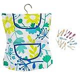 COM-FOUR Wäscheklammer-Kleid mit Bügel in verschiedenen Motiven und 12 Wäscheklammern mit Softgrip
