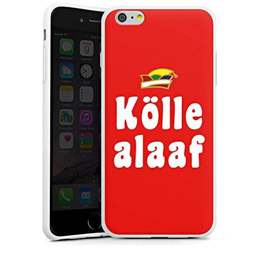 Apple iPhone X Silikon Hülle Case Schutzhülle Köln Karneval Fasching Silikon Case weiß