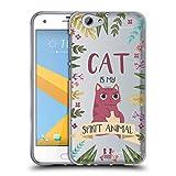 Head Case Designs Katze Seelen Tiere Abbildungen Soft Gel Hülle für HTC One A9s