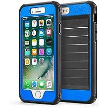 Funda iPhone 6/6s 360° Integral Para Ambas Caras CLOUDSTOO [GRATIS Protector de Pantalla de Vidrio Templado]--( Azul / Negro)