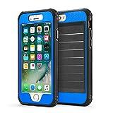 CLOUDSTOO Funda iPhone 6PLUS 6sPLUS 360° Integral para Ambas Caras [Gratis Protector de Pantalla de Vidrio Templado]-(Azul/Negro)
