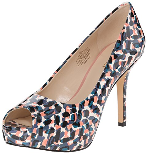 Nine West Qtpie Faux-cuir Pompe vestimentaire Blue Multi Synthetic
