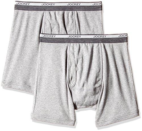 Jockey Men's Cotton Boxer Brief (Pack of 2) (8901326132401_8009_XX-Large_Grey Melange)