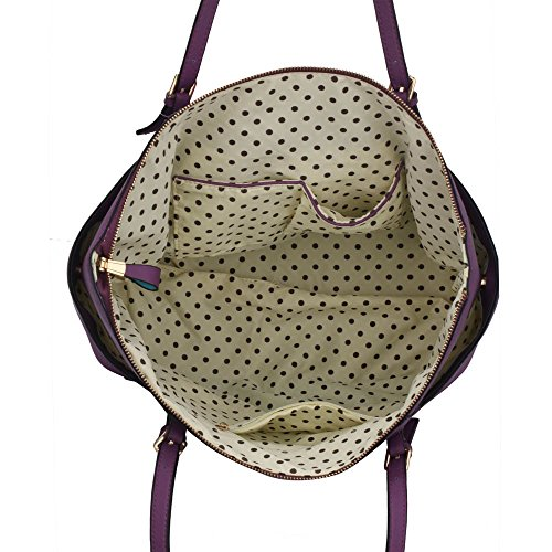 LeahWard® Damen Mode Desinger Qualität Tragetaschen Damen Modisch Schnell verkaufend Handtaschen Große Größe Schultertaschen CWS00350 Lila