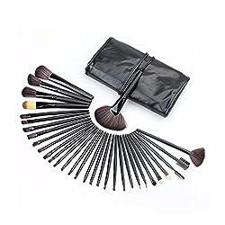 32 teiliges Kosmetik Make-up Pinsel Set von Kurtzy - Hochwertige Qualität professionelles Großes Make-up Pinsel Set in Kostenfreier Schönheits Rolltasche - Kosmetik Set für Frauen oder Mädchen