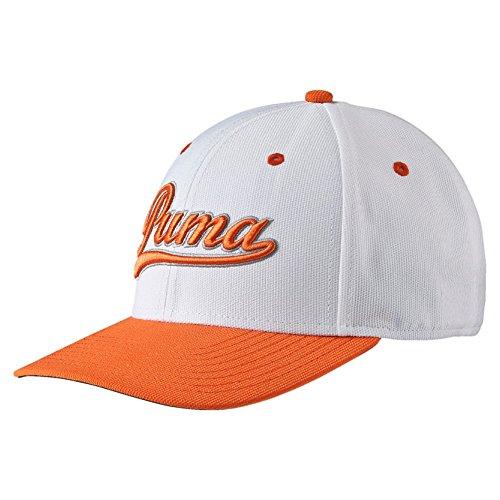 Puma Youth Script Fitted Cap - white-vibrant orange, Größe:OSFA Script Fitted Cap