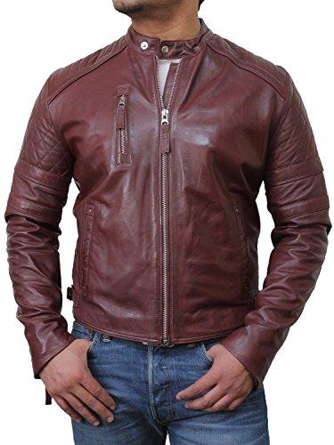Brandslock homme blouson veste diamant d'origine cuir motard dernieres conception Bourgogne