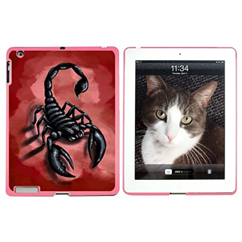 Scorpion - Bug Insect Red - Snap On Hard Protective Case for Apple iPad 2 3 4 - Pink
