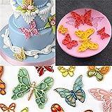 ZLY123 6 Hohlraum-Schmetterlingsform Insekten-Silikon-Kuchen-Form-Schokoladen-Süßigkeits-Silikon-Kuchen-Form für Kuchen-Dekoration Wiederverwendbare Dekorationswerkzeuge