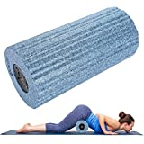Yoga Massage Spalte Vibration Schaum Roller mit 4 Geschwindigkeit High Intensity Vibrationsschaum Roller zur Effektive Tiefenmassage, Myofasziale Schnell Schmerzen und Verspannungen Fitness Crossfit Y(EU)