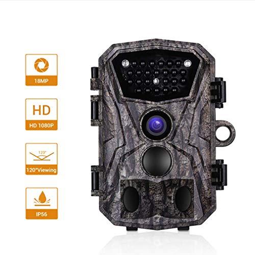 Space element Hinterkamera 16MP 1080P Wildlife Camera Trap 2.4''LCD mit Infrarot-Nachtsichtgerät bis zu 20m IP56 Spray Waterproof (Element Lcd)