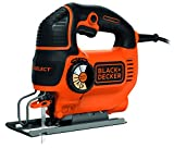 Black & Decker Autoselect Stichsäge mit Klinge, orange, KS801SE 550 wattsW, 18 voltsV