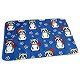 Bikofhd Christmas Raccoon Diaper Changing Pad Breathable Flannel Changing Mats and Reusable