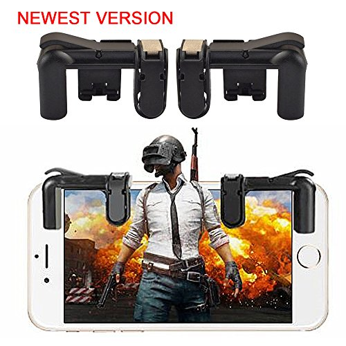 OXOQO controller per dispositivo, 2018 Upgraded Mobile Gaming Controller Fire Button Handle Sensitive Shoot and Aim L1R1 Shooter Controller
