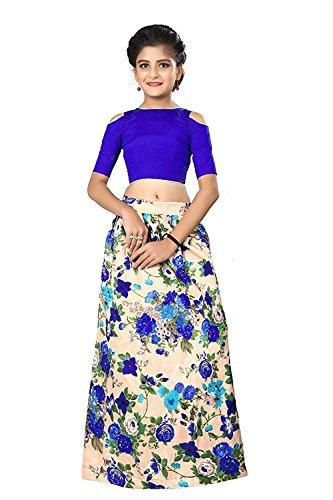 Shoryam Fashion Kids Party Wear Pink Banglory Silk Semi-Stitched Dress for Girl...