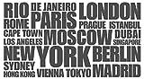 dekodino Wandtattoo Städtenamen Weltweit