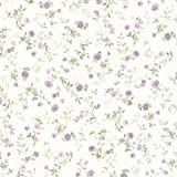 Image of BHF 487-68881 Sophie Floral Toss Wallpaper - Purple - Comparsion Tool