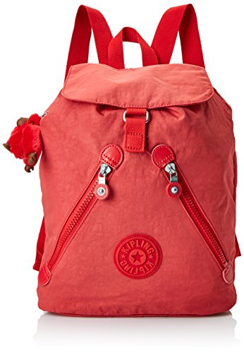 Kipling Damen FUNDAMENTAL Rucksack, Rot (Spicy Red C), 42x42x16.5 cm