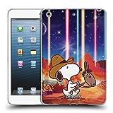 Head Case Designs Offizielle Peanuts Nebelfleck Pferde Reiten Snoopy Raumcowboy Soft Gel Hülle für iPad Mini 1 / Mini 2 / Mini 3