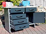 Große Feilbank Werkbank Werkplatz Werktisch Werkstatt Montagebank Werkzeug-Tisch Metall