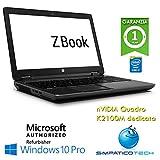 """Mobile Workstation HP ZBOOK 15 G2 Core i7-4810MQ 16Gb 512Gb SSD 15.6"""" FHD nVIDIA Quadro K2100M Windows 10 Pro (Ricondizionato)"""