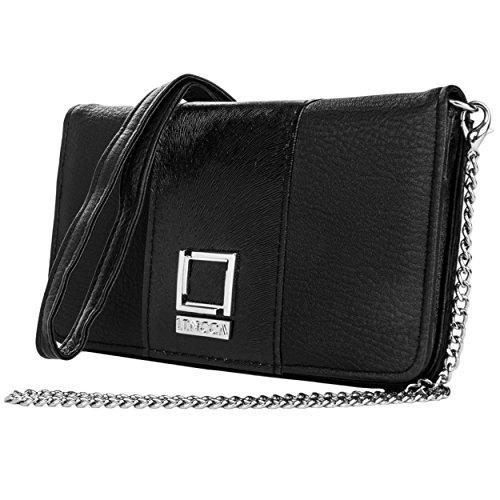 lencca-kyma-series-wallet-clutch-shoulder-cross-body-bag-black-black