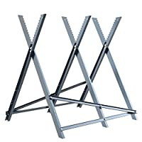 Finether Folding Steel Log Sawhorse, Heavy-Duty Logging Stand Holder with Serrated Teeth for Log, Firewood and Timber 331 lbs Capacity