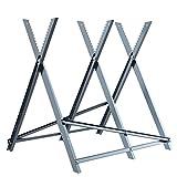 Finether Sägebock Kettensägebock Holzschneidebock klappbar Holzsägebock Sägegestell aus Stehlen für kettensägen Motorsäge brennholz, 150 kg Belastbarkeit