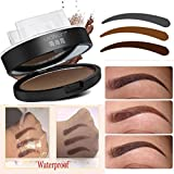 IGEMY Natural Eyebrow Powder Makeup Brow Stamp Palette Delicated Shadow Definition (B)