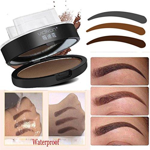 Igemy Maquillage en poudre pour définition de sourcils avec tampon
