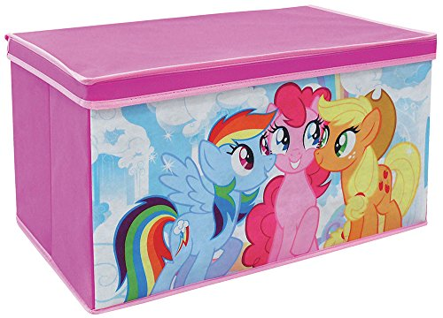 FUN HOUSE 712520 My Little Pony Coffre à Jouets Pliable pour Enfant Intissé 55,5 x 34,5 x 34 cm