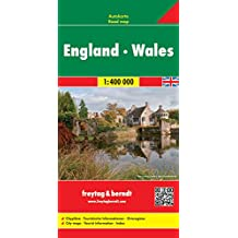 England - Wales, Autokarte 1:400.000, freytag & berndt Auto + Freizeitkarten