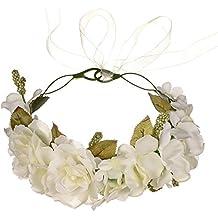 OKBO Coroncina fiori capelli per sposa damigella d onore bambina donna per  festa matrimonio fotografia 7e09ec0ec407