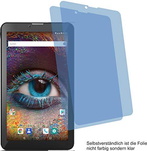 2X Crystal Clear klar Schutzfolie für Odys Pyro 7 Plus 3G Bildschirmschutzfolie Displayschutzfolie Schutzhülle Bildschirmschutz Bildschirmfolie Folie