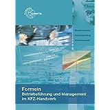 Formeln Betriebsführung und Management im KFZ-Handwerk