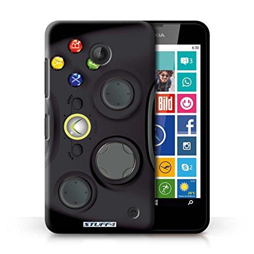 KOBALT® Hülle Case für Nokia Lumia 630 | Nintendo Game Boy Entwurf | Spielkonsolen Kollektion Schwarz Xbox 360