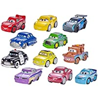 Mattel Disney Pixar Cars, 1 vehículo Mini Racers metal, 1 póster, surtido: modelos aleatorios