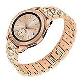 Ruentech für Galaxy Watch Active/Galaxy Watch 42 Mm/Gear S2 Classic/Gear Sport Armband Metall Edelstahlbänder Ersatz Kompatibel mit Samsung Uhrenzubehör (Rosegold)