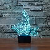 3D Illusion Lampe Neuheit optische LED Licht 7 Farben ändern Schildkröte Licht Touch Switch Tisch Schreibtischlampen für Kinder Schlafzimmer Geburtstag Geschenke